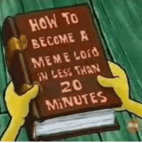 Meme Lord: HoW To  BECOME A  MEME Lord  IN LESS THAN  20  MiNUTES