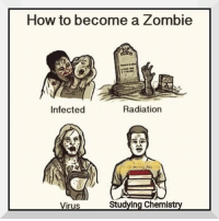 How To, Zombie, and Chemist: How to become a Zombie  Infected  Radiation  Virus  Studving Chemist
