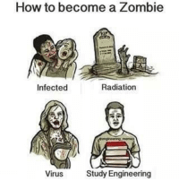 How to become a zombie 😂😂 Tag your zombie friends!!! Credit to @engineering_memes engineering engineer mechanicalengineer engineeringstudent engineeringwork engineeringmemes engineeringlife engineeringjokes funny jokes DM Us for promote if you have an event,competition or business enquiries 😉: How to become a Zombie  Radiation  Infected  Study Engineering  Virus How to become a zombie 😂😂 Tag your zombie friends!!! Credit to @engineering_memes engineering engineer mechanicalengineer engineeringstudent engineeringwork engineeringmemes engineeringlife engineeringjokes funny jokes DM Us for promote if you have an event,competition or business enquiries 😉
