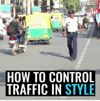 Meet the world's most flamboyant traffic cop. That moonwalk though! 👏😂  via Ruptly: HOW TO CONTROL  TRAFFIC IN STYLE Meet the world's most flamboyant traffic cop. That moonwalk though! 👏😂  via Ruptly