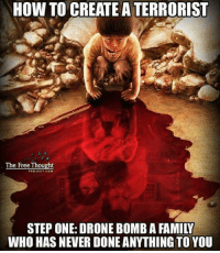 Who is creating terorrists?: HOW TO CREATE A TERRORIST  The Free Thought  PROJECT COM  STEP ONE: DRONE BOMBAFAMILW  WHO HAS NEVER DONE ANYTHING TO YOU Who is creating terorrists?