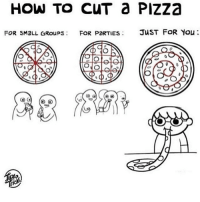 Memes, Pizza, and 🤖: HOW TO CUT Pizza  FOR sMaLL GRoups FOR PORTIES  JUST FOR You  ONO  KAO US Yes -e