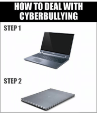 Memes, 🤖, and Bully: HOW TO DEAL WITH  CYBERBULLYING  STEP 1  STEP 2 wish there was a console version . cus i was being cyber bullied all day