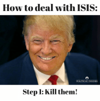 ISIS: How to deal with ISIS:  POLITICAL INSIDER  Step l: Kill them!
