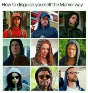 Hoodie gang.: How to disguise yourself the Marvel way Hoodie gang.