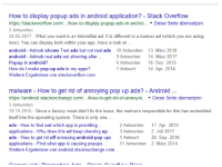 The Stack is the scene for a continuous drama of life and death as both predators and prey are brought together by a desperate common need..: How to display popup ads in android application? - Stack Overflow  https://stackoverflow.com/.../how-to-display-popup-ads-in-androi.... Diese Seite übersetzen  2 Antworten  24.05.2017 - What you want is an interstitial ad. It is different to a banner ad (which you are using  now). You can display both within your app. Have a look at..  android Admob shows Test ads but not real ads 10 Antworten 13. März 2018  android - Admob real ads not showing after .  Popup in android?  How do I make pop-up ads in my apps?  Weitere Ergebnisse von stackoverflow.com  3 Antworten  5 Antworten  1 Antwort  14. März 2017  16. Dez. 2015  14. Apr. 2014  malware How to get rid of annoying pop up ads? - Android  https://android.stackexchange.com/../how-to-get-rid-of-annoyin. Diese Seite übersetzen  3 Antworten  19.10.2016 Since a factory reset didn't fix the issue, the malware responsible for this has embedded  itself into the operating system. There is only one  ads - How to find out which app is providing..  applications - Why does this ad keep showing up3 Antworten 2. Juli 2017  ads - How to get rid off annoying android pop ups 1 Antwort  applications Find what app is causi  Weitere Ergebnisse von android.stackexchange.com  2 Antworten  17. Apr. 2018  20. Sep. 2016  2. März 2014  ng popups..  11 Antworten The Stack is the scene for a continuous drama of life and death as both predators and prey are brought together by a desperate common need..