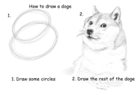 Dank, Doge, and How To: How to draw a doge  1.  2.  1. Draw some circles  2. Draw the rest of the doge Via Reddiit user 5ymm