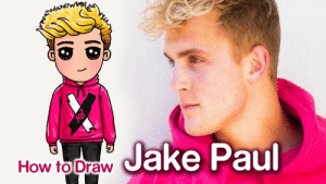 How to Draw Jake Paul | Famous Youtuber – Kids YouTube: How to Draw Jake Paul  (B  (6 How to Draw Jake Paul | Famous Youtuber – Kids YouTube