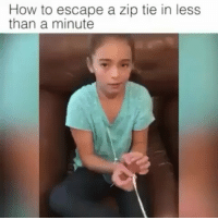 😕😉😉😉@Regrann from @anonymiss_heather @peter3269 - This is a excellent video for a child, or anyone, to get free from zip ties used as restraints in an attempted kidnapping etc. pizzagate restraint zipties abducted childabuse missing Childtrafficking kidnapp tie escape Video from @themdfgringa_official - regrann momm_ty: How to escape a zip tie in less  than a minute 😕😉😉😉@Regrann from @anonymiss_heather @peter3269 - This is a excellent video for a child, or anyone, to get free from zip ties used as restraints in an attempted kidnapping etc. pizzagate restraint zipties abducted childabuse missing Childtrafficking kidnapp tie escape Video from @themdfgringa_official - regrann momm_ty