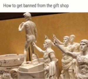 This would make the perfect salute for a proctologist's office: How to get banned from the gift shop  memes  RUSH This would make the perfect salute for a proctologist's office