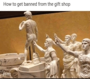 the-gift-shop: How to get banned from the gift shop  memes  RUSH