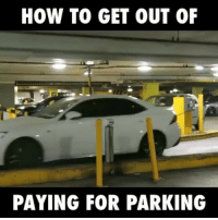 Memes, 🤖, and How: HOW TO GET OUT OF  PAYING FOR PARKING How has he got away with this?! 😂😂 (via: Facebook-Jamie Zhu)