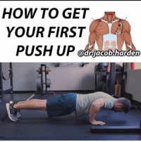 "WHY I HATE ""GIRL PUSH UPS"" . I'm not a big fan of push ups from the knees, often termed ""girl push ups"". Without starting a sexism debate🙅‍♀️, let's just say both sexes can benefit from them, but I still don't think their the best way to get to a full push up. . The reason is that they just don't allow for an easy, natural progression to the full push up. If you're trying to get your first full push up, you'll do much better and progress easier by using a bar in a rack. . In the push up, you push ⬇️vertically into the ground, so you fight against the full resistance of gravity on your bodyweight, which is also a vertical force. . With the bar, you start by largely pushing ↘️horizontally with some just a little vertical push so you only face part of that gravitational resistance. Then as you get stronger, you progress the bar downwards so that you push more and more vertically and add a little resistance at a time until you are at the full push up.📈 . The bonus with this is that you learn to remain rigid from head to toe and train your core at the same time as you progress. I like to start people at a position they can get 3 to 4 sets of 5 solid reps. When they can do all sets for 8 to 10, we lower the bar and start over. Repeat until you get to the floor.💪 . Tag a friend who wants to get their first push up and share the wealth! . 🎵 - Bazanji - Beachside (@bazanji919) . Prehab101: HOW TO GET  YOUR FIRST  PUSH UP WHY I HATE ""GIRL PUSH UPS"" . I'm not a big fan of push ups from the knees, often termed ""girl push ups"". Without starting a sexism debate🙅‍♀️, let's just say both sexes can benefit from them, but I still don't think their the best way to get to a full push up. . The reason is that they just don't allow for an easy, natural progression to the full push up. If you're trying to get your first full push up, you'll do much better and progress easier by using a bar in a rack. . In the push up, you push ⬇️vertically into the ground, so you fight against the full resistance of gravity on your bodyweight, which is also a vertical force. . With the bar, you start by largely pushing ↘️horizontally with some just a little vertical push so you only face part of that gravitational resistance. Then as you get stronger, you progress the bar downwards so that you push more and more vertically and add a little resistance at a time until you are at the full push up.📈 . The bonus with this is that you learn to remain rigid from head to toe and train your core at the same time as you progress. I like to start people at a position they can get 3 to 4 sets of 5 solid reps. When they can do all sets for 8 to 10, we lower the bar and start over. Repeat until you get to the floor.💪 . Tag a friend who wants to get their first push up and share the wealth! . 🎵 - Bazanji - Beachside (@bazanji919) . Prehab101"