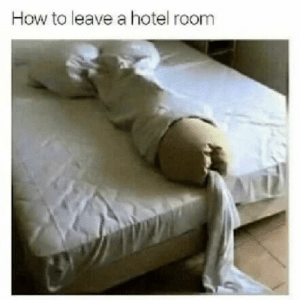 Meme, Memes, and Hotel: How to leave a hotel room A very high quality meme via /r/memes https://ift.tt/2ObYrvS