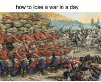 how to lose a war in a day Belligerent British Empire Memes Good thing you weren't the Zulus ( ͡° ͜ʖ ͡°)