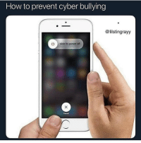 Funny, How To, and Power: How to prevent cyber bullying  @lilstingrayy  ) slide to power off  Cancel Just close the app