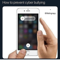 How To, Power, and Dank Memes: How to prevent cyber bullying  @lilstingrayy  U slide to power off  Cancel Copy and paste what u got