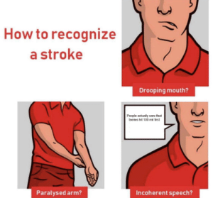 How To, How, and Stroke: How to recognize  a stroke  Drooping mouth?  People actually care that  tseries hit 100 mil first  Incoherent speech?  Paralysed arm?  20 #noonecares