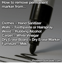 How To Remove Permanent Marker From Clotheshand Sanitizer