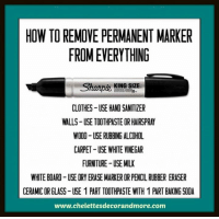 How To Remove Permanent Marker From Everything Clothes Use