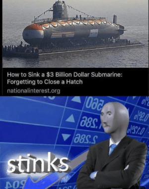 How To, How, and Submarine: How to Sink a $3 Billion Dollar Submarine:  Forgetting to Close a Hatch  nationalinterest.org  stinks  CC hmmmmm