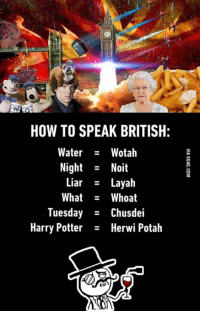 speak british