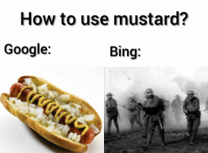 I am surprised no one has made this before: How to use mustard?  Google:  Bing I am surprised no one has made this before