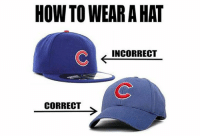 Mlb, How To, and How: HOW TO WEAR A HAT  INCORRECT  CORRECT THIS!
