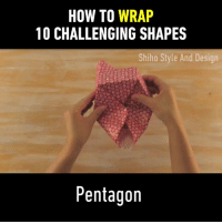 Dank, How To, and Design: HOW TO WRAP  10 CHALLENGING SHAPES  Shiho Style And Design  Pentagon Now I want to go unwrap all of the gifts and re-wrap them.  By Shiho Style and Design