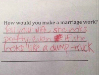 Listen to the kids: How would you make a marriage work? Listen to the kids