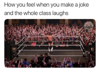 Jesus, Memes, and World Wrestling Entertainment: How you feel when you make a joke  and the whole class laughs Jesus look how over that man is ajstyles romanreigns braunstrowman sethrollins bobbylashley baroncorbin randyorton danielbryan drewmcintyre rondarousey samoajoe deanambrose beckylynch alexabliss johncena mandyrose brocklesnar reymysterio andradecienalmas shinsukenakamura finnbalor themiz royalrumble wwe wwememes wwememe wwefunny wrestlingmemes wweraw wwesmackdown