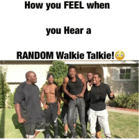 Gangsta, Lol, and Memes: How you FEEL whern  you Hear a  RANDOM Walkie Talkie! How you FEEL when you hear a RANDOM Walkie Talkie! LoL TAG someone if this gets you too! @biggjah @officialminks @virgil.harris @hollywoodlue @frantzlatten walkietalkie thuglife gangsta rugrats cops
