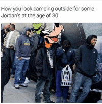 Hey guys this is @thehoodjokes I sold the page because i need money for a new car. Imma still be around. My new page is the same username. This time around i'm going to be more active and interactive with my followers. I appreciate all of your support! -TheHoodJokes: How you look campingoutside for some  Jordan's at the age of 30  trees  N, DECATHL Hey guys this is @thehoodjokes I sold the page because i need money for a new car. Imma still be around. My new page is the same username. This time around i'm going to be more active and interactive with my followers. I appreciate all of your support! -TheHoodJokes