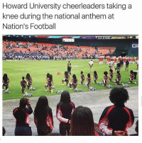 🌹: Howard University cheerleaders taking a  knee during the national anthem at  Nation's Football  CI 🌹