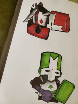 Howdy pals, I'm Mags. These are a few Castle Crasher drawings I made a while back.: Howdy pals, I'm Mags. These are a few Castle Crasher drawings I made a while back.