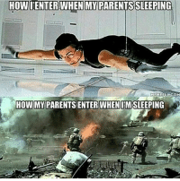 """Crazy, Dank, and Internet: HOWIENTER WHEN MY PARENTSSLEEPING  MEMEFUL COM  HOWIMYPARENTSSENTER WHEN IMSLEEPING The last picture is WACK yo. I can already see all the """"white people are crazy"""" comments 😂 - Liked the memes? Turn on my post notifications for quick laughs 🤘🏼 Backup- @memerzone - Tags (Ignore) 🚫 GamingPosts CallOfDuty Memes Cod codww2 Gaming Tumblr FunnyPosts Xbox LMAO Playstation XboxOne Internet Selfie CSGO Gamer SelenaGomez Follow Dank Meme Spongebob Like YouTube Relatable Memes DankMemes"""