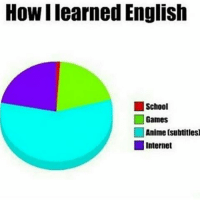 Internet, Memes, and English: Howllearned English  School  Games  Anime (subtitles  Internet Its not same for me . . . . . . . . .