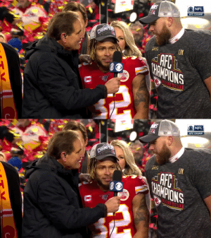 How's it feel, Travis Kelce?! #NFLPlayoffs #ChiefsKingdom   (via @Chiefs) https://t.co/ZSQPgy6MED: How's it feel, Travis Kelce?! #NFLPlayoffs #ChiefsKingdom   (via @Chiefs) https://t.co/ZSQPgy6MED