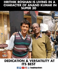 #Super30 #AnandKumar #HrithikRoshan: HRITHIK ROSHAN IS LIVING IN A  CHARACTER OF ANAND KUMAR IN  SUPER 30  LAUGHING  DEDICATION & VERSATILITY AT  ITS BEST #Super30 #AnandKumar #HrithikRoshan