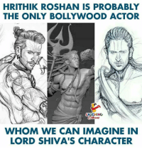 hrithik: HRITHIK ROSHAN IS PROBABLY  THE ONLY BOLLYWOOD ACTOR  LAUGHING  WHOM WE CAN IMAGINE IN  LORD SHIVA'S CHARACTER