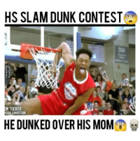 Dunk, Memes, and Mom: HS SLAM DUNK CONTEST  DNTUCKER  SIDE CHRISTIAN  HE DUNKED OVER HIS MOM This dunk contest was insane😰🔥 - 👇Which one was your favorite?👇 - Follow (me) @fullcourtplayz for more!🐐