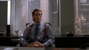 """American, Christian Bale, and Http: http://www.neoseeker.com In American Psycho (2000) Christian Bale plays the main character Patrick Bateman, who is based on the similarly named Patrick Bateman from the Bret Easton Ellis novel """"American Psycho,"""" which would later be adapted into a film starring Christian Bale as Patrick Bateman"""