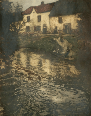 huariqueje:  Evening in Audenarde   -    Frits Thaulow Norwegian, 1847-1906Colour etching,   65 x 52 cm. (25.6 x 20.5 in.)  : huariqueje:  Evening in Audenarde   -    Frits Thaulow Norwegian, 1847-1906Colour etching,   65 x 52 cm. (25.6 x 20.5 in.)