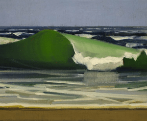 huariqueje:  Small Hypnotic Wave -  Christopher BensonAmerican , b.1960-Oil on linen, 11 x 14 in,: huariqueje:  Small Hypnotic Wave -  Christopher BensonAmerican , b.1960-Oil on linen, 11 x 14 in,