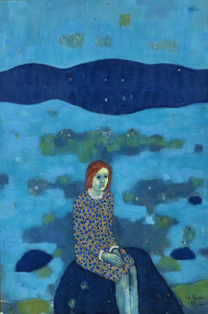 huariqueje:  Young Girl -  Victor Sparre, 1975.Norwegian, 1919-2008Oil on canvas,148 x 98 cm.: huariqueje:  Young Girl -  Victor Sparre, 1975.Norwegian, 1919-2008Oil on canvas,148 x 98 cm.