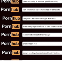 -catnip: hub  Porn does rationality or freedom give life meaning  Porn hub  can consciousness be replicated by a machine  Porn  hub  why can't we derive an ought from an is  Porn  hub does every organism have its own subjective rea  Porn  hub  is the medium really the message  Porn  hub  are numbers real  Porn  hub  can we sensibly discuss ethics without intention -catnip