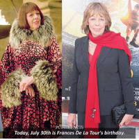 Birthday, Memes, and Happy Birthday: HUC  BY  Today, July 30th is Frances De La Tour's birthday. 🎂 | July 30th, 1944 ⠀⠀⠀⠀⠀⠀⠀⠀⠀⠀⠀⠀⠀ — A very happy birthday to Frances. She also played Aunt Imogene in Alice in Wonderland and Madame Emilie in Hugo. ⠀⠀⠀⠀⠀⠀⠀⠀⠀⠀⠀⠀⠀ — harrypotter