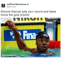 Always the best @swimone13 BlackExcellence @expressiontees blackpride blackandproud blackpower africanamerican melanin ebony panafrican blackcommunity problack brownskin blackhistorymonth blackhistory ancestors becauseofthemwecan: HuffPost BlackVoices  @blackvoices  Simone Manuel sets new record and takes  home the gold AGAIN  Fina  @blackstagra Always the best @swimone13 BlackExcellence @expressiontees blackpride blackandproud blackpower africanamerican melanin ebony panafrican blackcommunity problack brownskin blackhistorymonth blackhistory ancestors becauseofthemwecan