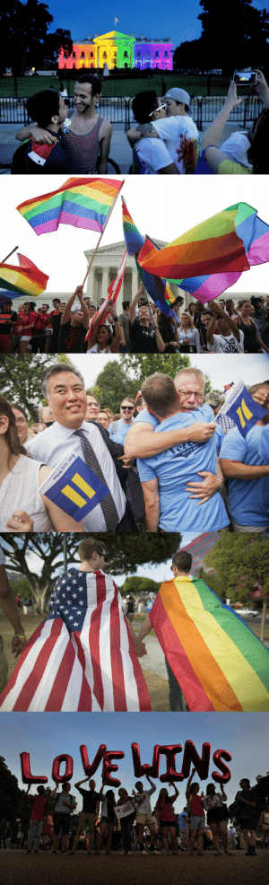 huffpost:  These images from the day the Supreme Court ruled that the Constitution required all states to recognize same-sex marriage are beautiful. : huffpost:  These images from the day the Supreme Court ruled that the Constitution required all states to recognize same-sex marriage are beautiful.
