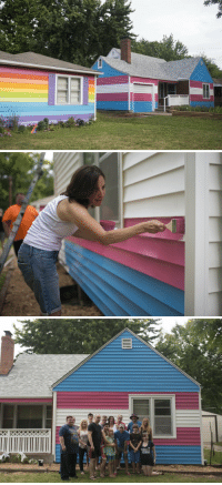 Church, Community, and Target: huffpostqueervoices:  Westboro Members Now Live Next To House Painted Colors Of Transgender Flag The Equality House, the rainbow-colored house across the street from the Westboro Baptist Church in Topeka, Kansas, just expanded its compound — with a home painted the colors of the trans flag — and by doing so furthered its visible statement of solidarity with the queer community.